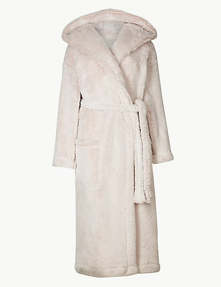 Supersoft Hooded Long Sleeve Dressing Gown | M&S Collection | M&S
