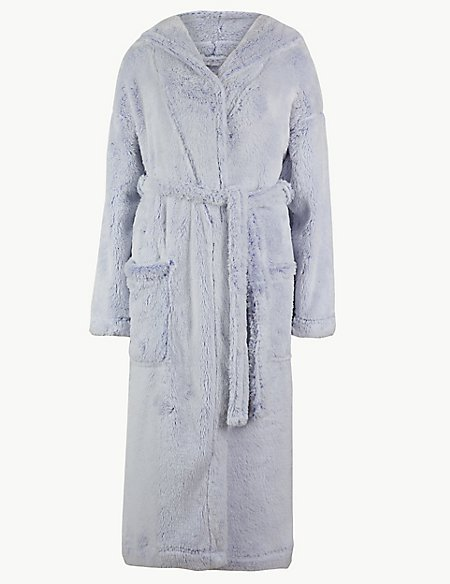 Supersoft Long Pile Hooded Dressing Gown