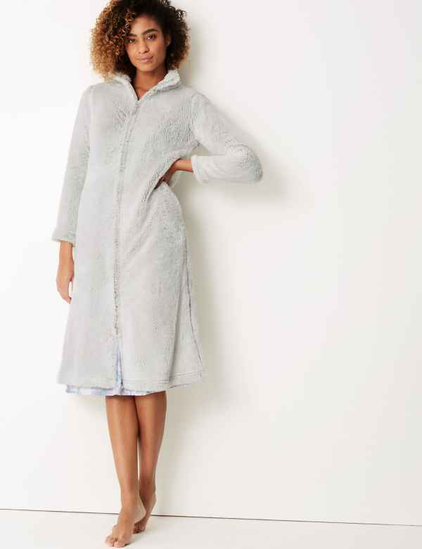 Womens Dressing Gown Luxury Silk Towelling Dressing Gowns Ms