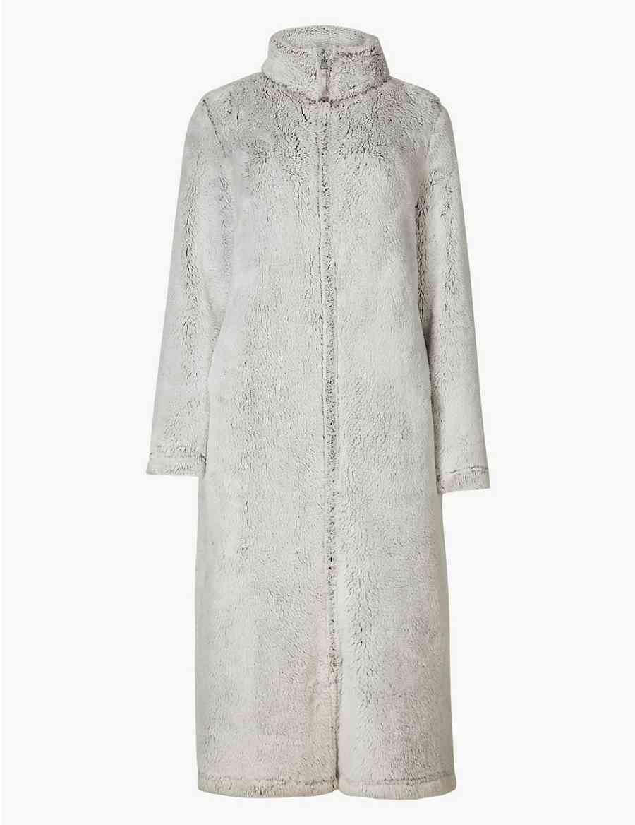 Supersoft Long Sleeve Dressing Gown Ms Collection Ms