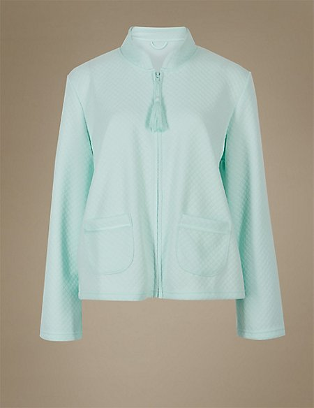 Textured Quilted Bed Jacket