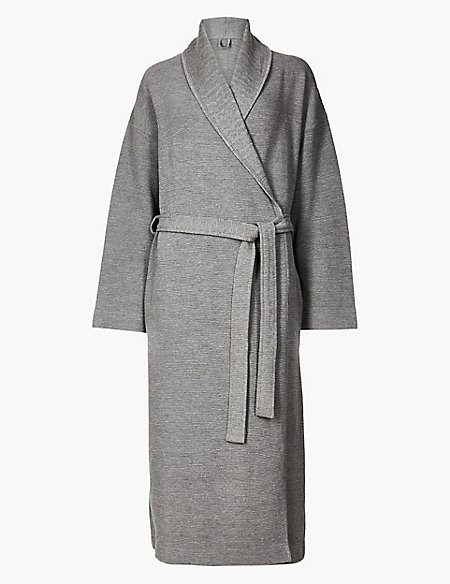 Textured Ribbed Waffle Dressing Gown | M&S Collection | M&S