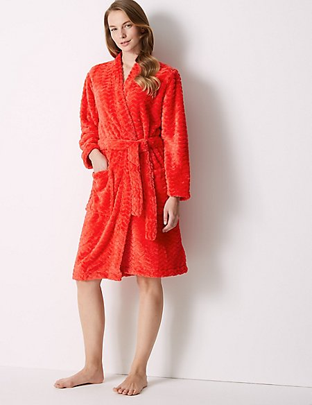 be7c1fc1d4 Textured Supersoft Kimono Dressing Gown