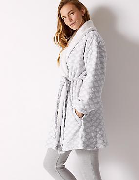 Cloud Print Long Sleeve Dressing Gown