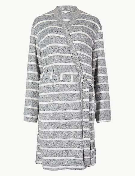 Striped Lounge Wrap Dressing Gown