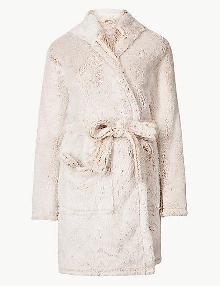 Fleece Bear Hooded Dressing Gown