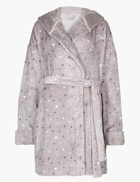 Fleece Tinkerbell Print Dressing Gown