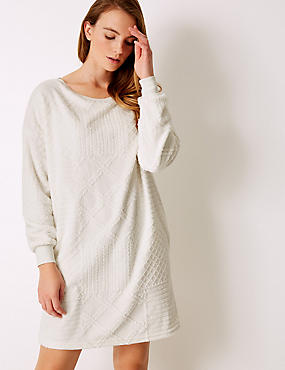 Fleece Textured Lounge Dress