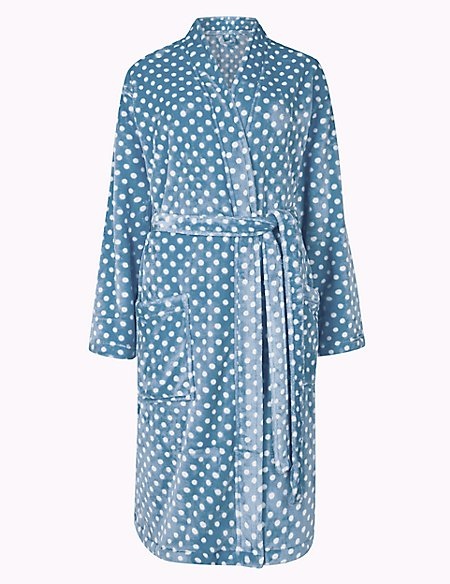 Supersoft Spot Dressing Gown