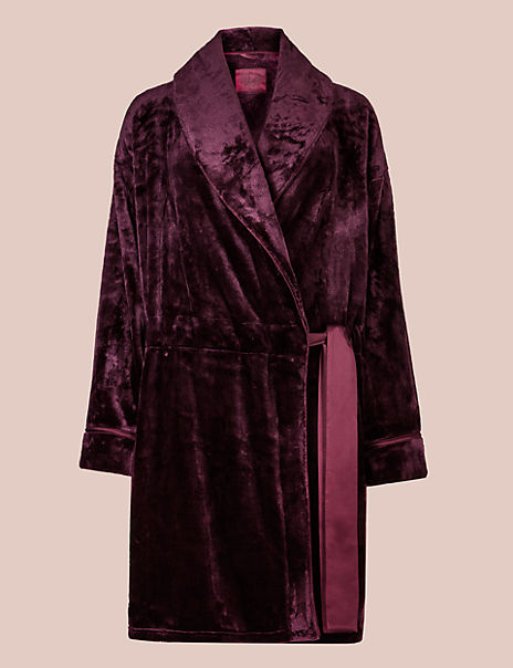 Fleece Long Sleeve Dressing Gown
