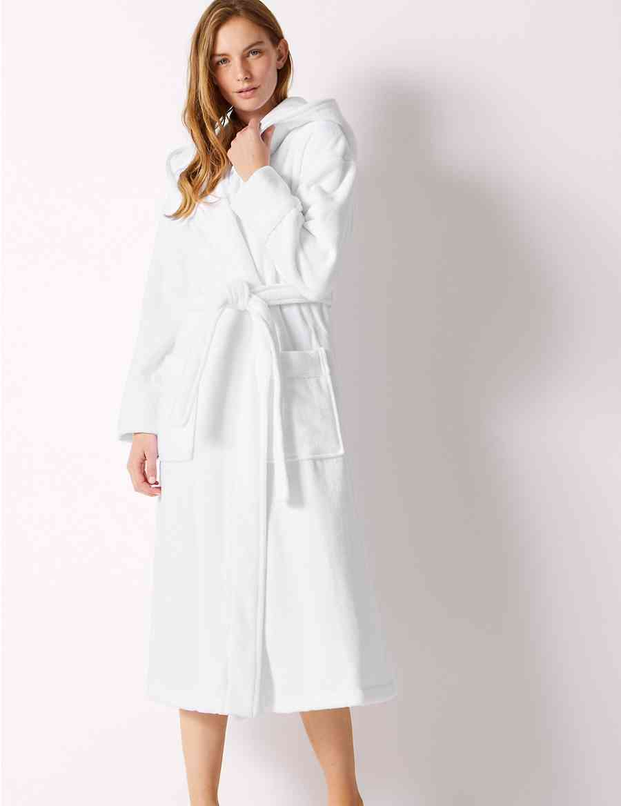 Pure Cotton Velour Dressing Gown  852d838c4
