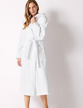 Pure Cotton Velour Dressing Gown