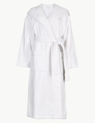 Pure Cotton Velour Dressing Gown by Marks & Spencer