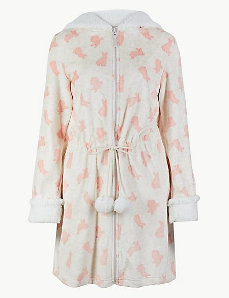 Bunny Print Dressing Gown