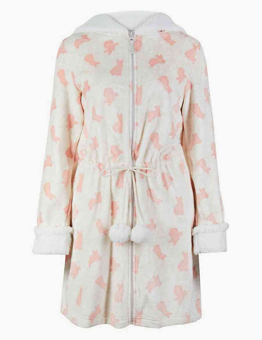 b62c0c4673 Bunny Print Dressing Gown