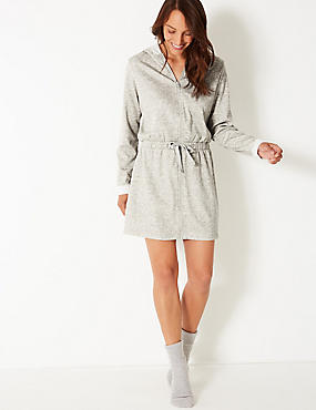 Womens Dressing Gown Robes Towelling Gowns Ms Au
