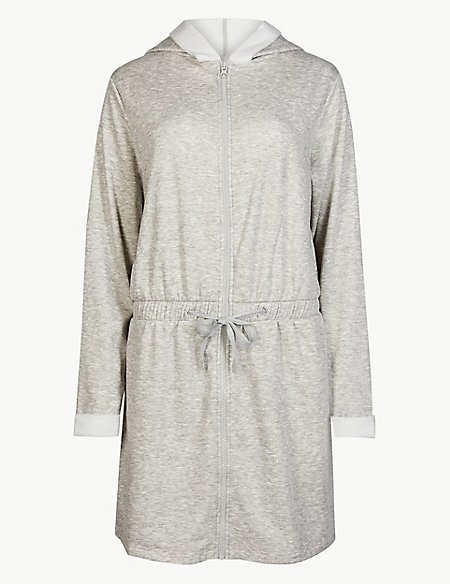 Fleeceback Zip Through Dressing Gown