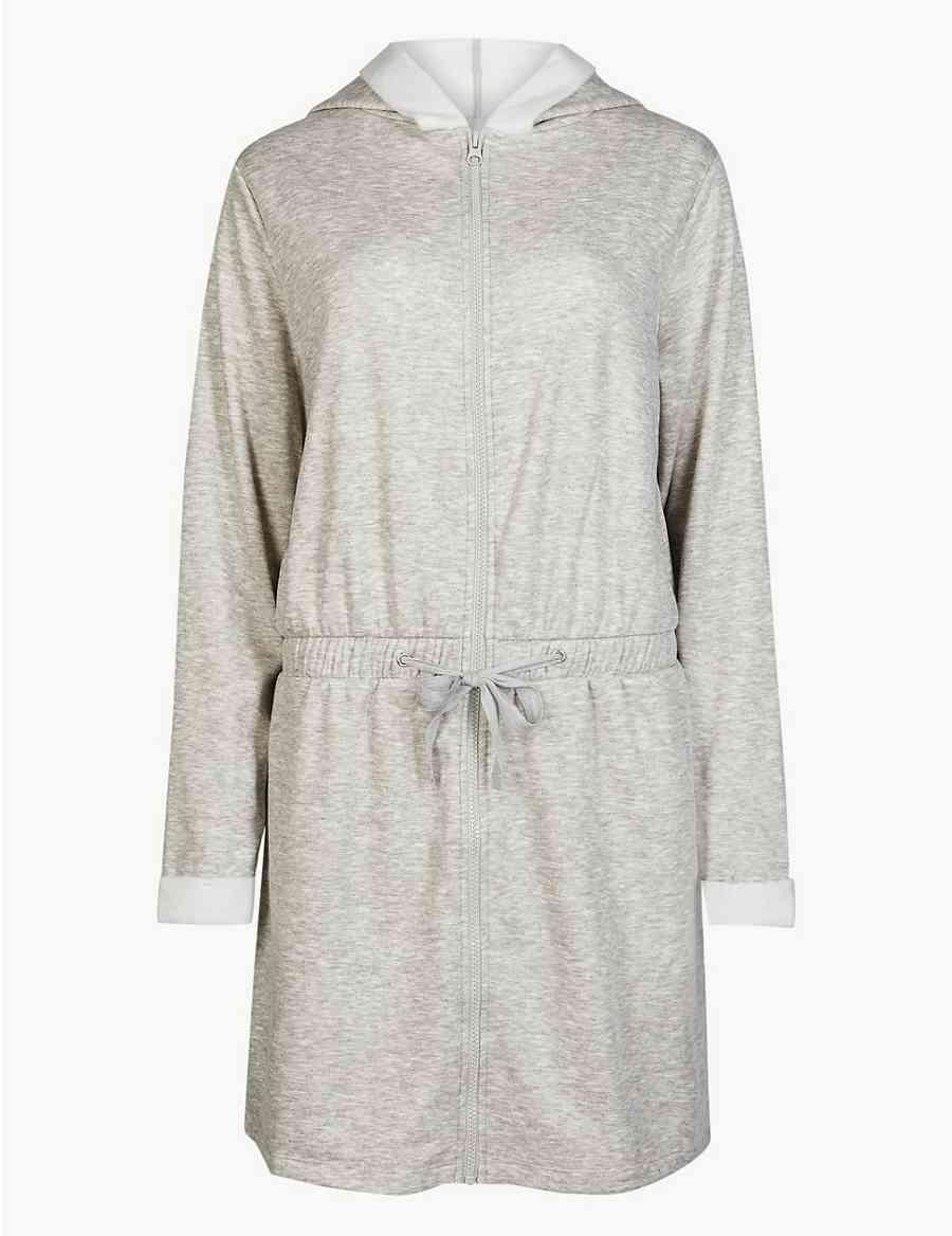Fleeceback Zip Through Dressing Gown  7421152e9