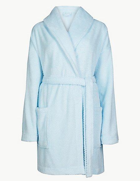 Fleece Short Dressing Gown