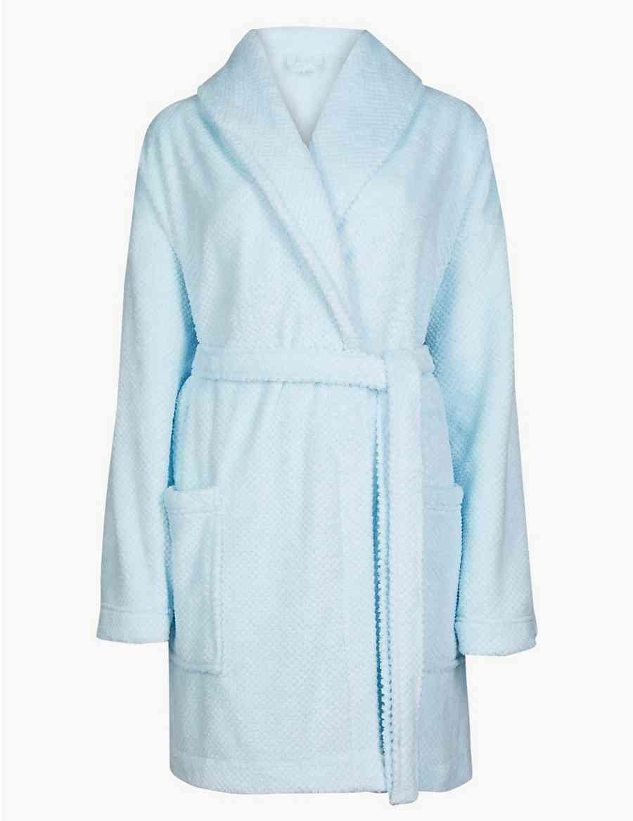 Fleece Short Dressing Gown  076d9db03