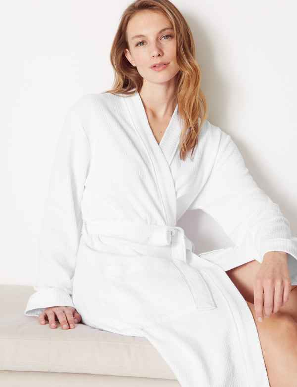 Pure Cotton Waffle Dressing Gown a68909f8c