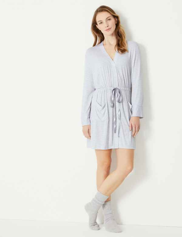 1d977685e8 Striped Short Dressing Gown