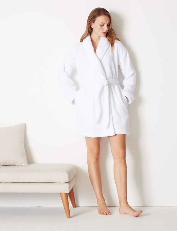 Pure Cotton Towelling Short Dressing Gown b7c211c09