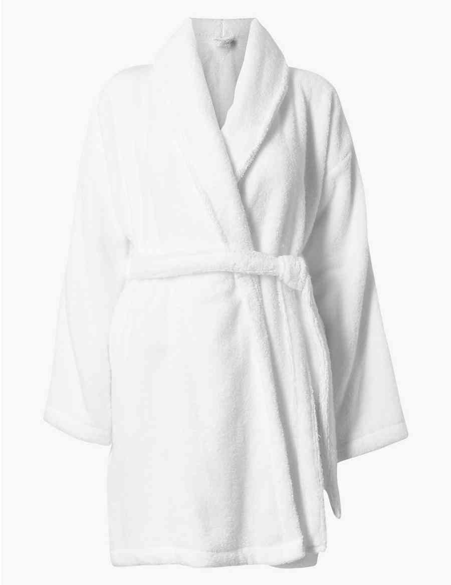 faeac1caa7 Pure Cotton Towelling Short Dressing Gown