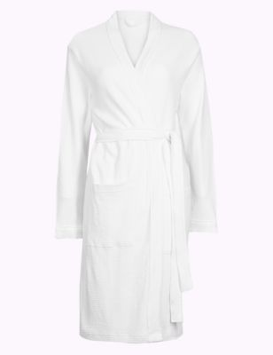 Pure Cotton Textured Dressing Gown by Marks & Spencer