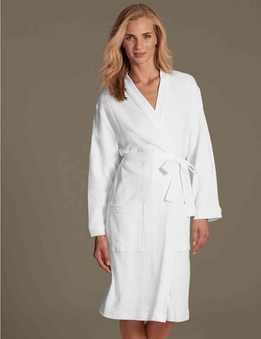 646413c4c6 Pure Cotton Waffle Dressing Gown