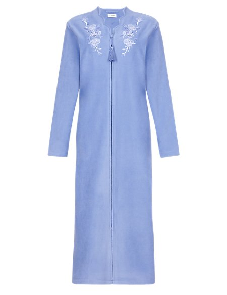 Floral Embroidered Scalloped Dressing Gown | M&S Collection | M&S