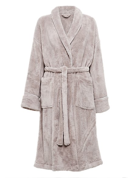 Shawl Collar Cosy Fleece Dressing Gown | M&S Collection | M&S