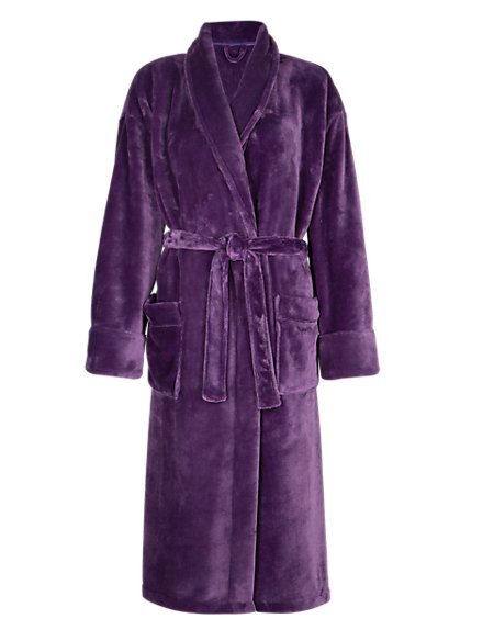 Shawl Collar Belted Dressing Gown