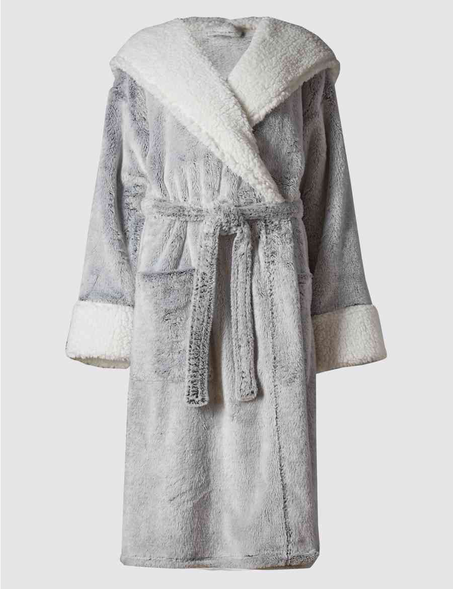 Luxury Hooded Shimmer Dressing Gown  5fd07986d