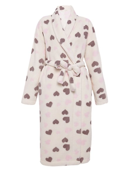 Heart Print Cosy Dressing Gown | M&S Collection | M&S