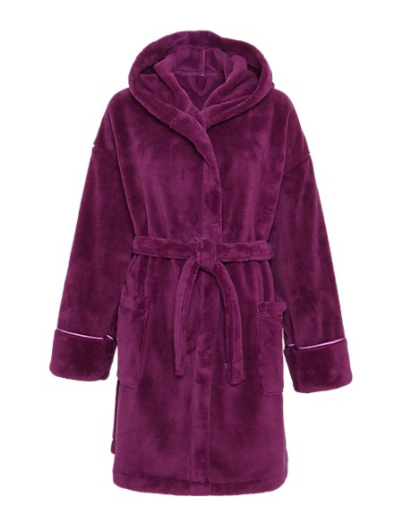 Hooded Cosy Dressing Gown | M&S Collection | M&S