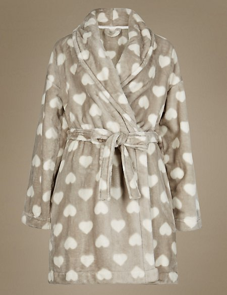 Supersoft Heart Print Dressing Gown | M&S Collection | M&S