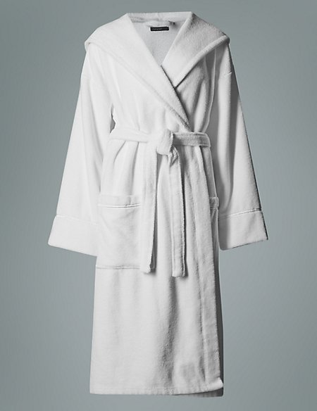 Luxury Hooded Belted Towelling Dressing Gown Autograph Ms