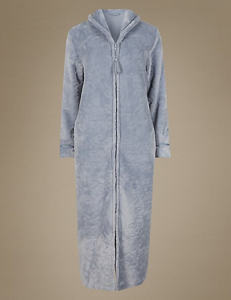 Zip Front Dressing Gown - Dress Foto and Picture 39fbb62f0