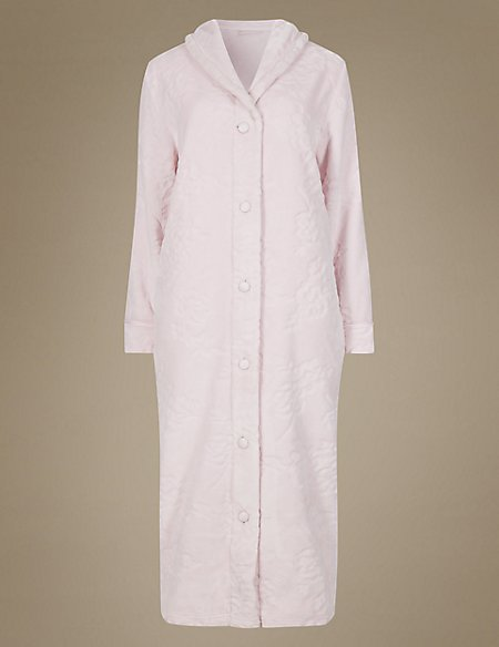 Carved Button Dressing Gown | M&S Collection | M&S