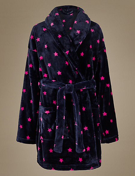 Shimmer Star Print Dressing Gown | M&S Collection | M&S