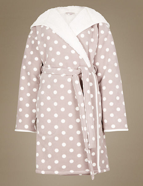 Bonded Spotted Dressing Gown