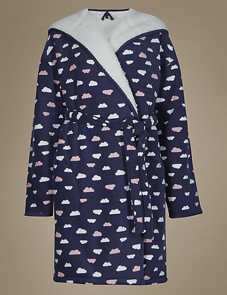 Bonded Cloud Print Dressing Gown