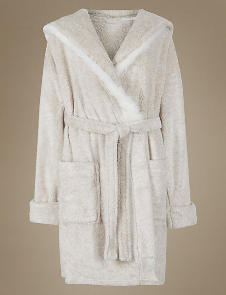 Bear Hooded Dressing Gown