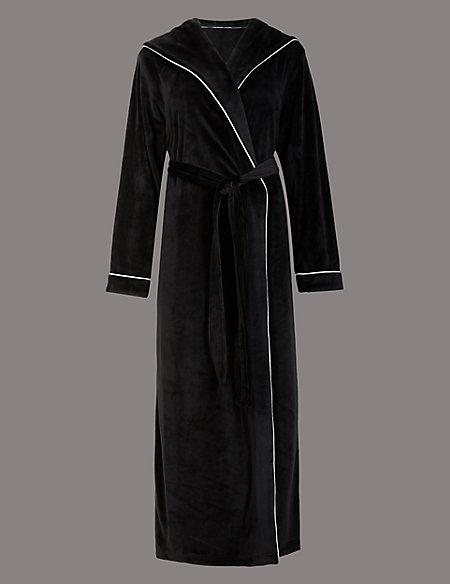Hooded Fleece Dressing Gown