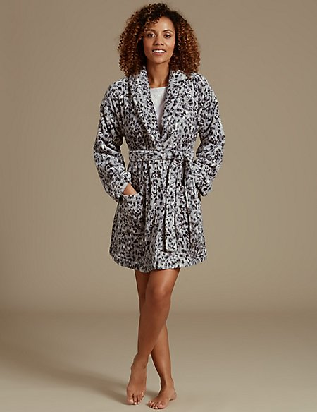 Shimmer Animal Print Dressing Gown  e0b453a54