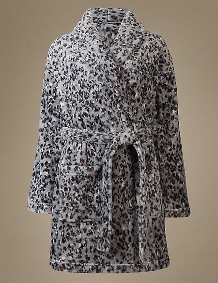 Product images. Skip Carousel. Shimmer Animal Print Dressing Gown 54df6770c