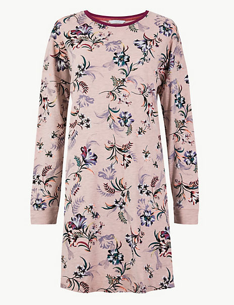 Floral Print Short Nightdress
