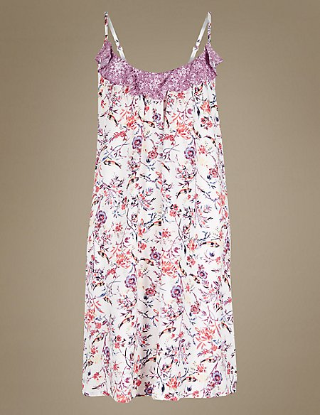 Printed Strappy Chemise