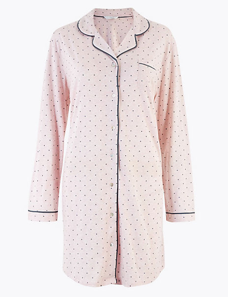 Cool Comfort™ Cotton Modal Spot Nightdress